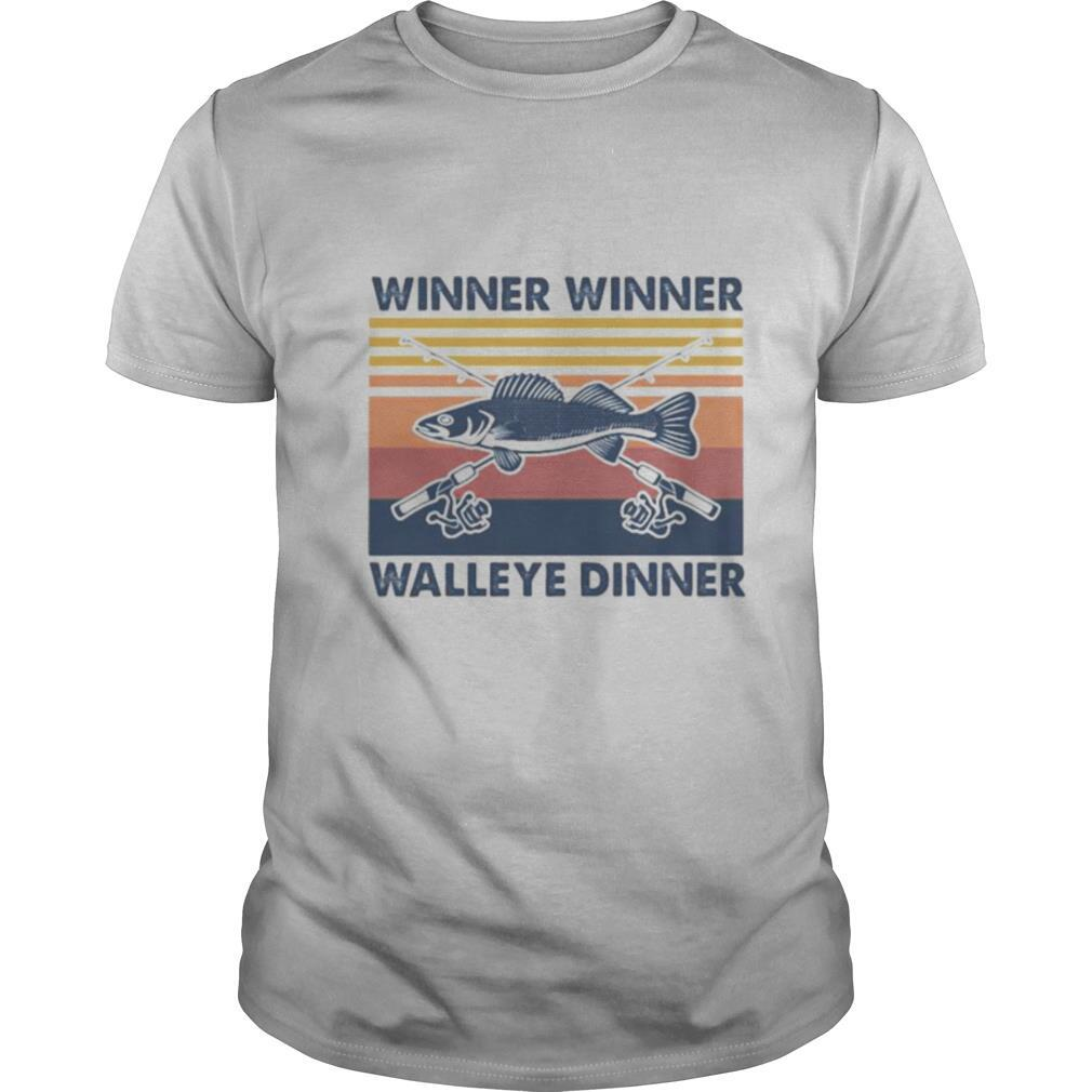 Fishing winner winner walleye dinner vintage retro shirt Classic Men's