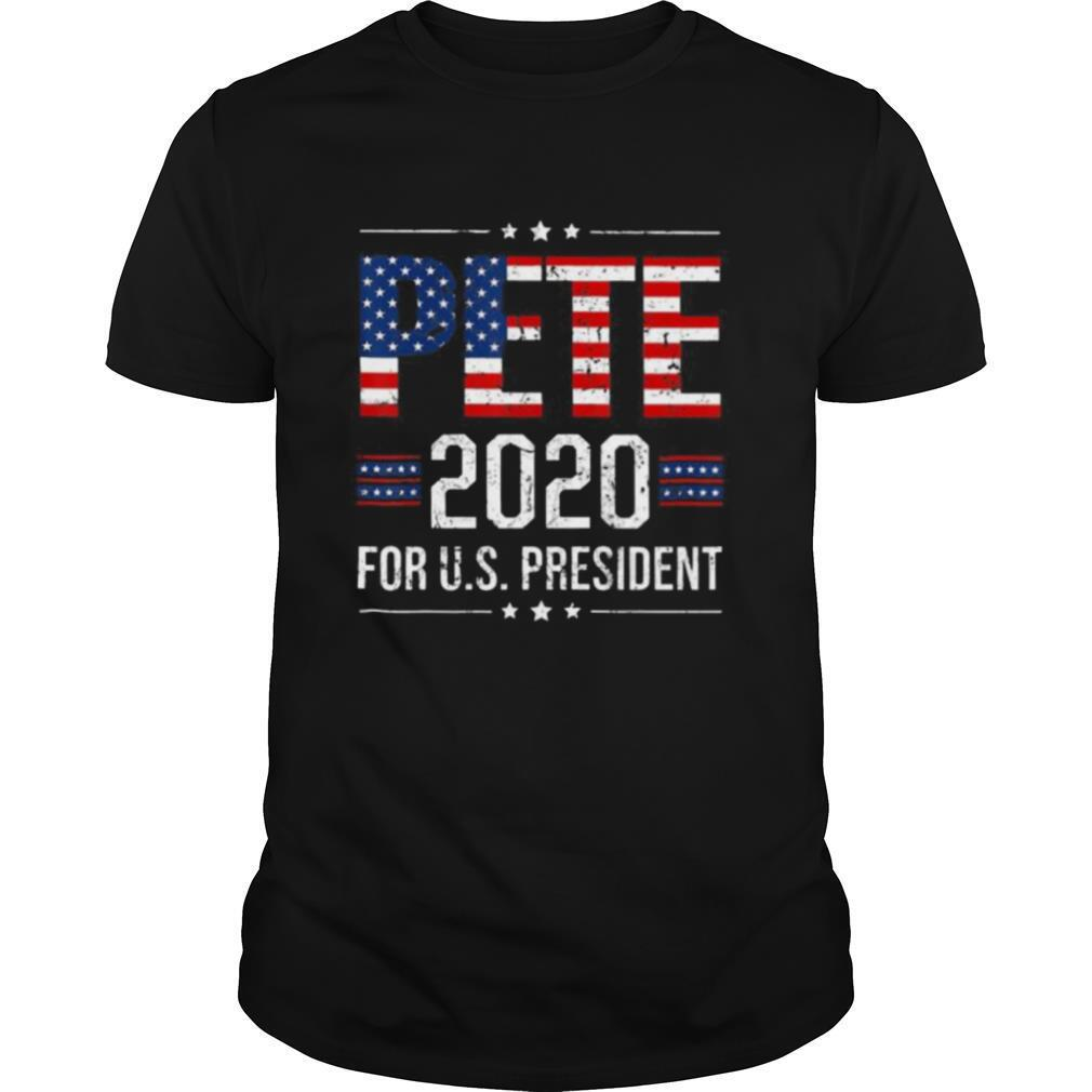 Pete 2020 for us president american flag independence day shirt Classic Men's