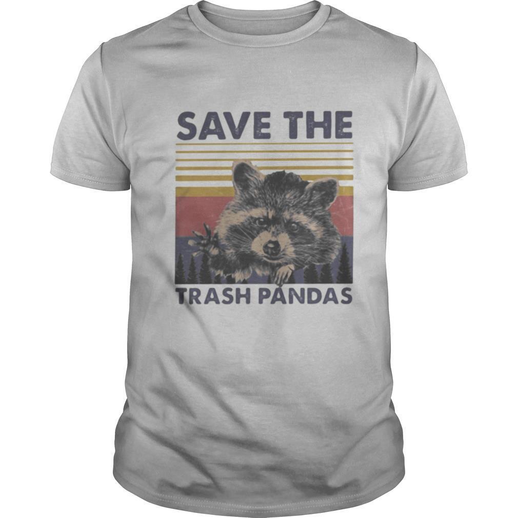 Raccoon save the trash pandas vintage retro shirt Classic Men's