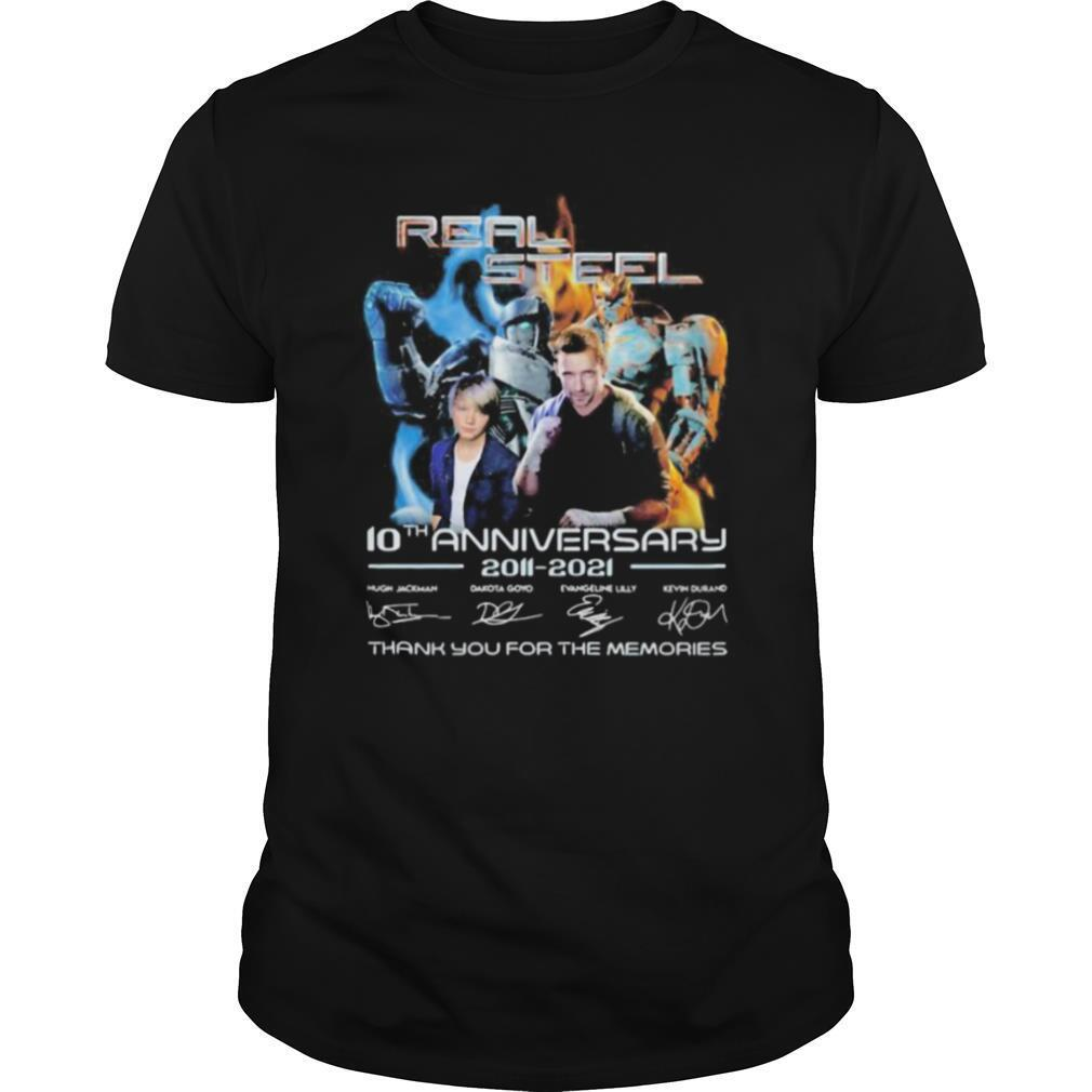 Real steel 10th anniversary 2011 2020 thank you for the memories signatures shirt Classic Men's