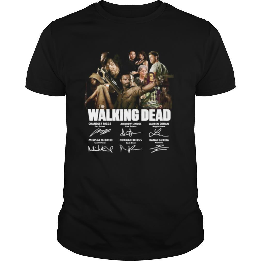 The walking dead movie characters signatures shirt Classic Men's