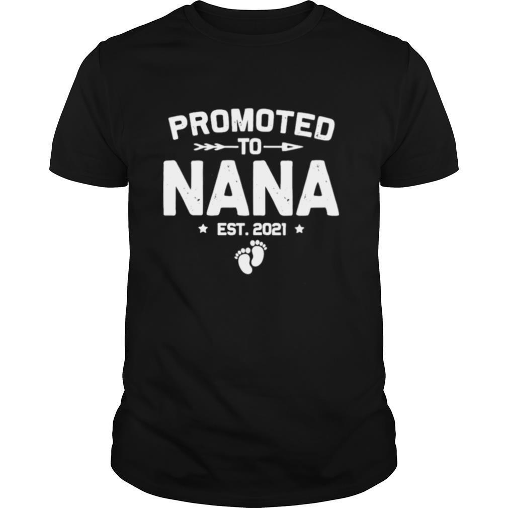 Vintage Promoted To Nana Est 2021 New Mom shirt Classic Men's