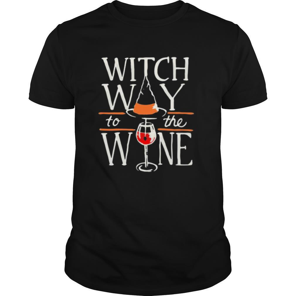 Witch way to the wine halloween shirt Classic Men's