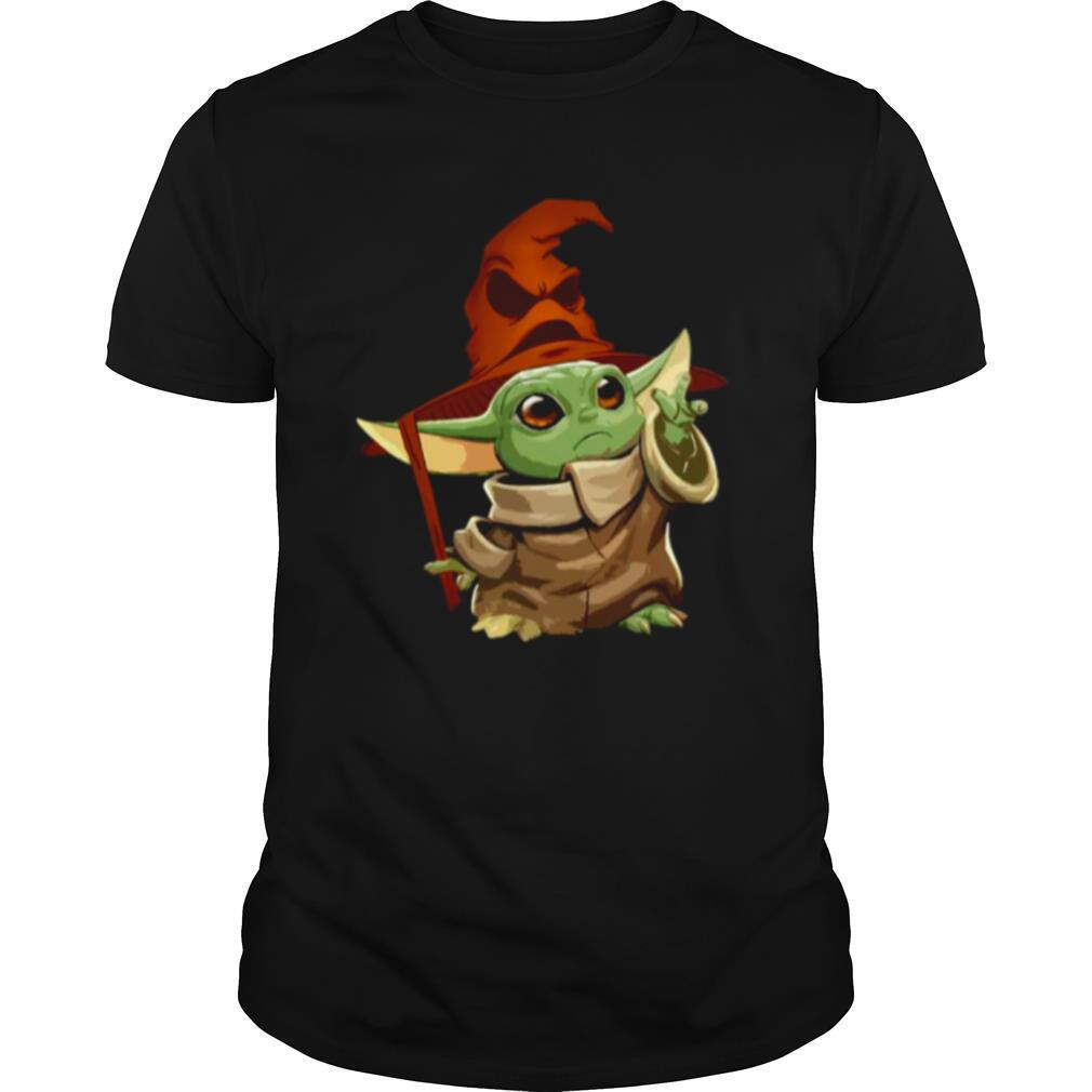 Baby Yoda Wearing Star Wars Harry Potter shirt Classic Men's