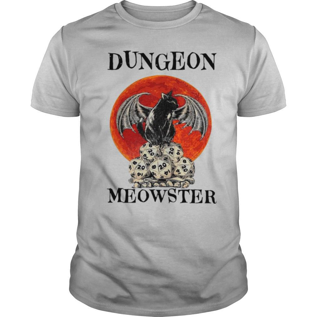 Bat And Black Cat Dungeon Meowster shirt Classic Men's