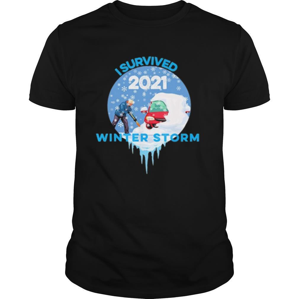I Survived Snovid 2021 Winter Storm shirt Classic Men's