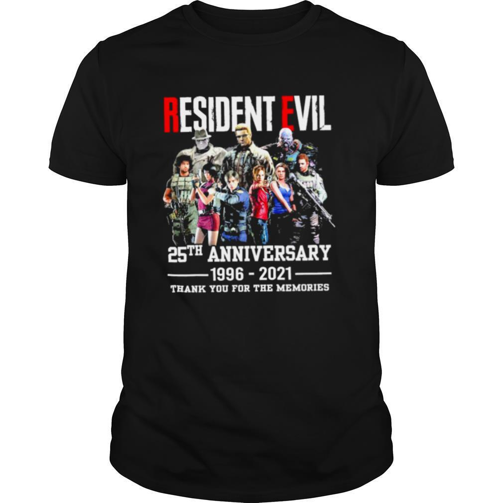Resident Evil 25th Anniversary 1996 2021 Thank You For The Memories shirt Classic Men's