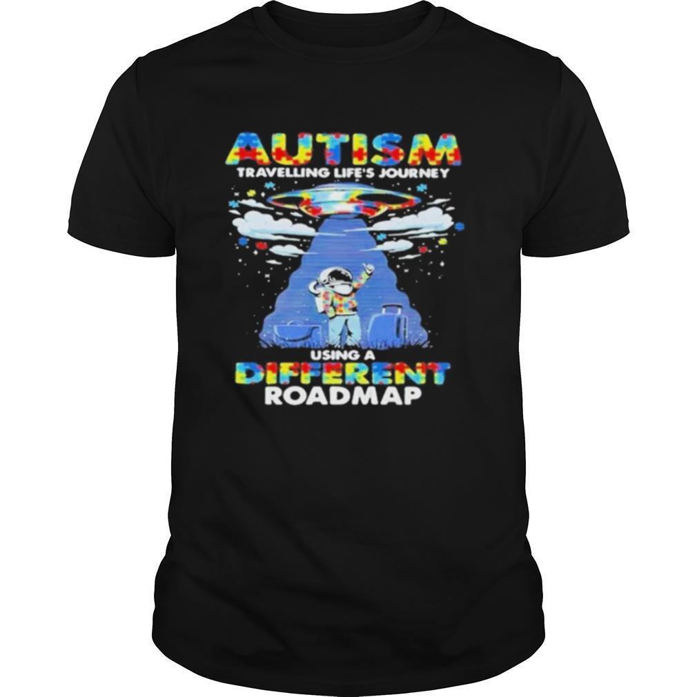 UFO Autism travelling lifes journey using a diferent roamap shirt Classic Men's