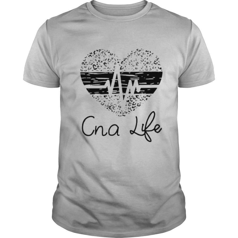 Cna life heartbeat heart leopard shirt Classic Men's