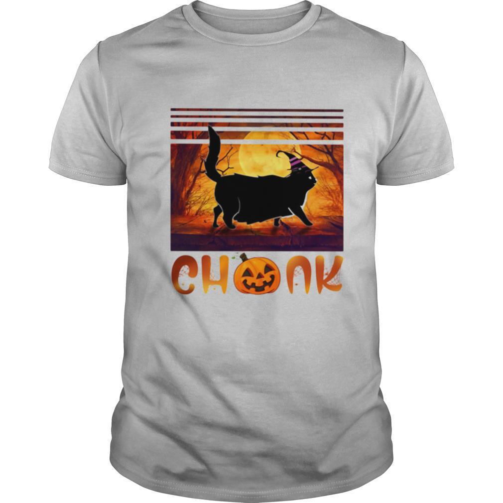 Halloween Cat Chonk Pumpkin Vintage shirt Classic Men's