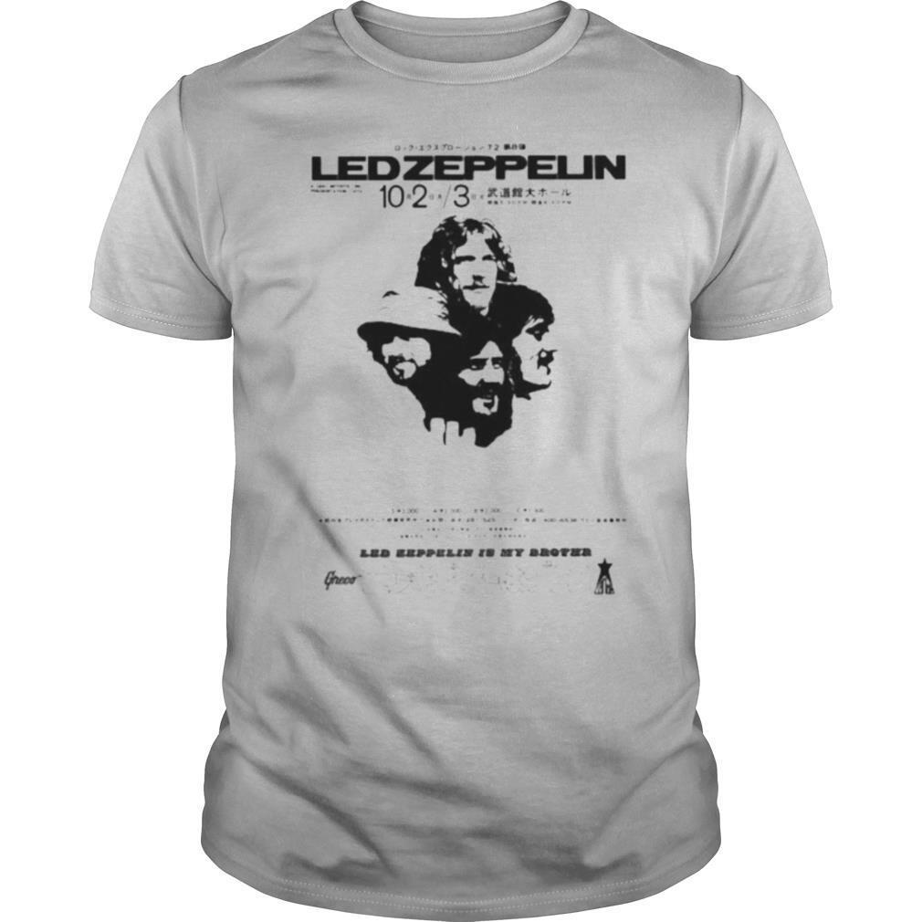 Led zeppelin band 15 my brother greco japanese shirt Classic Men's