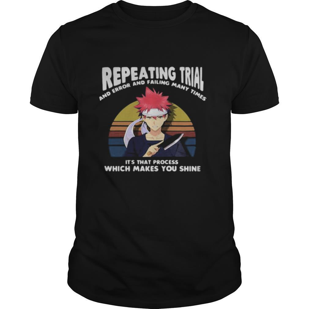 Naruto repeating trial and error and failing many times it's that process which makes you shine vintage retro shirt Classic Men's