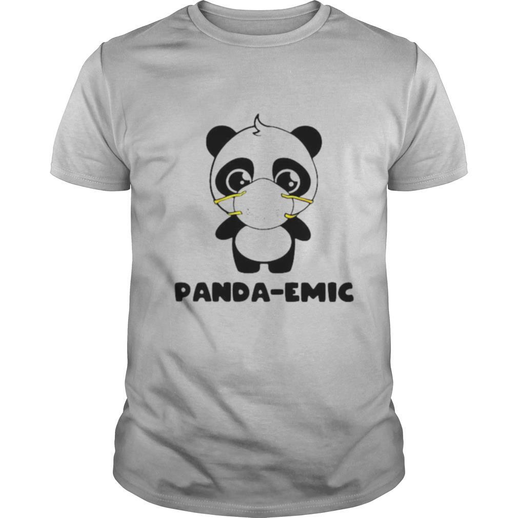Panda emic cute quarantine social distancing shirt Classic Men's