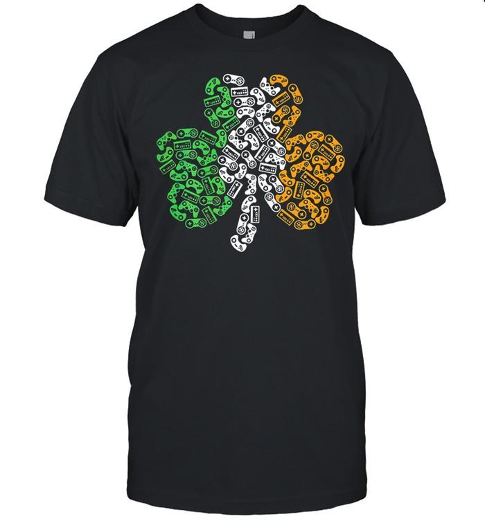 St patricks day shamrock gaming video kids shirt Classic Men's T-shirt