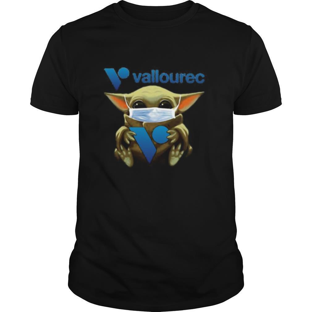 Star wars baby yoda mask hug vallourec shirt Classic Men's