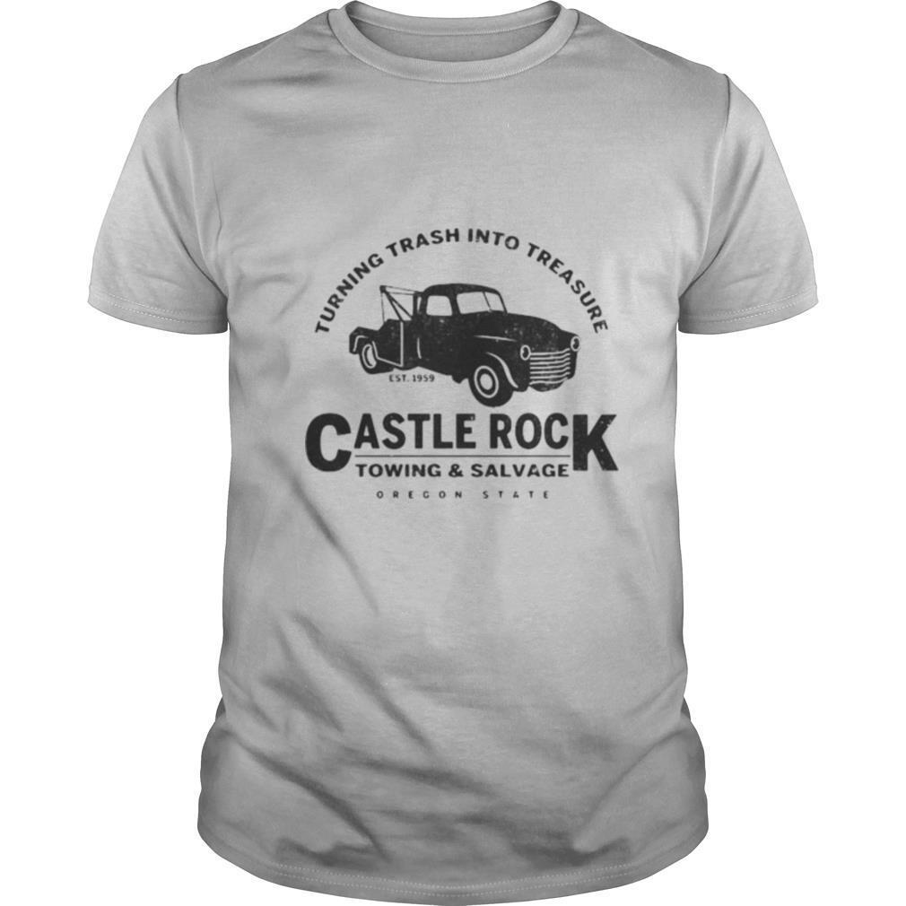 Turning trash into treasure est 1959 castle rock towing and salvage oregon state shirt Classic Men's