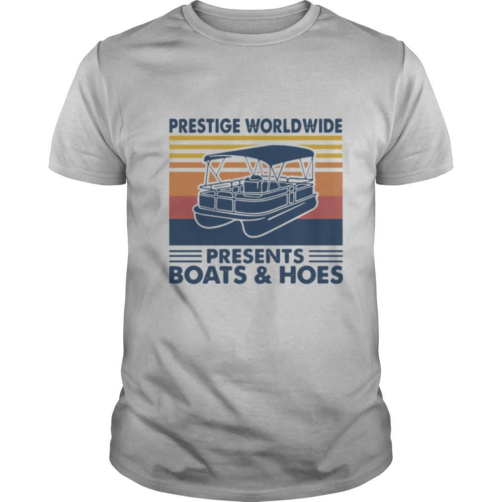 Boating Prestige Worldwide Presents Boats And Hoes Vintage Retro shirt Classic Men's