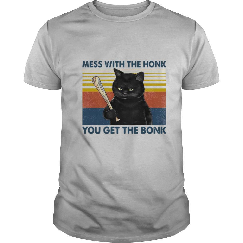 Cat Mess With The Honk You Get The Bonk Vintage shirt Classic Men's