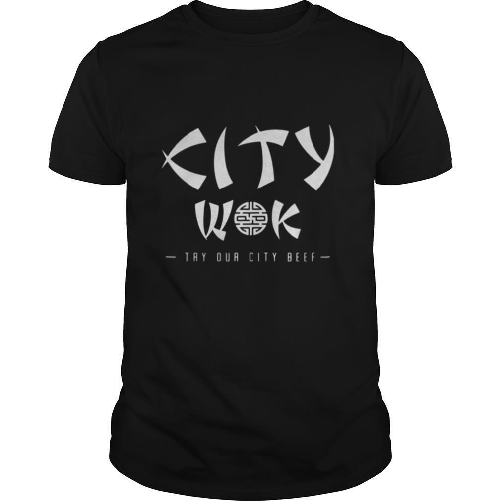 City wok try our city beef shirt Classic Men's
