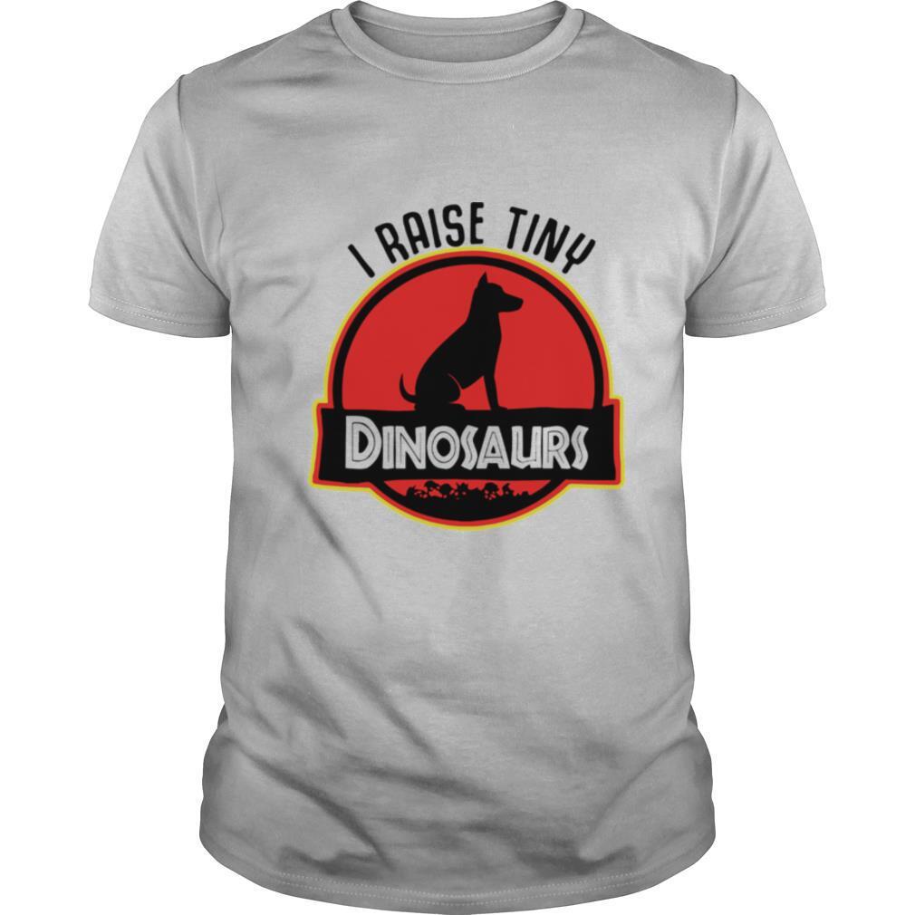 Dog I raise tiny dinosaurs shirt Classic Men's