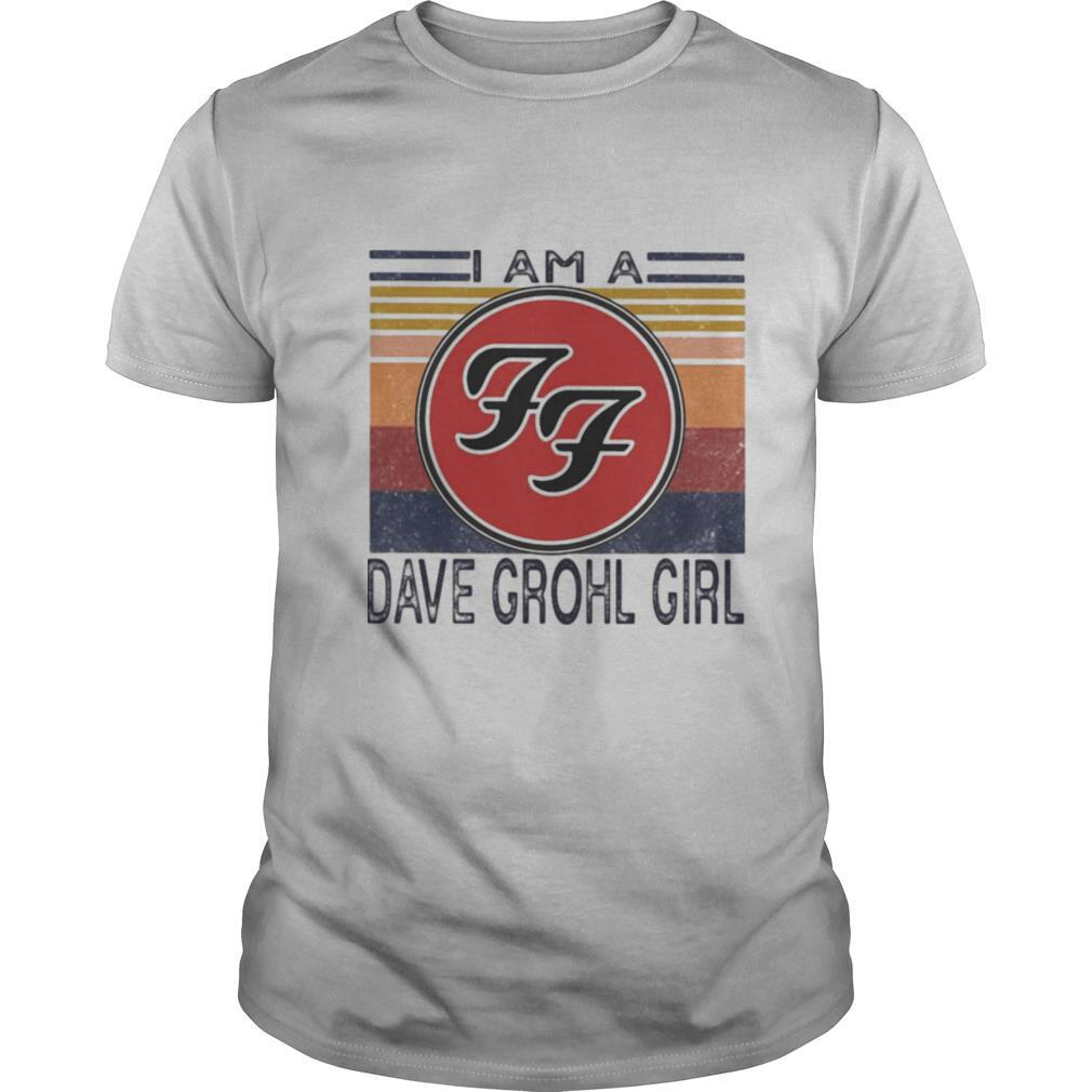 I am a dave grohl girl vintage retro shirt Classic Men's