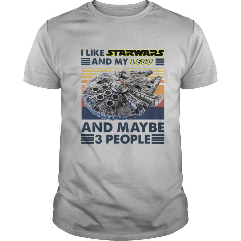 I Like Star Wars And My Lego And Maybe 3 People Vintage shirt Classic Men's
