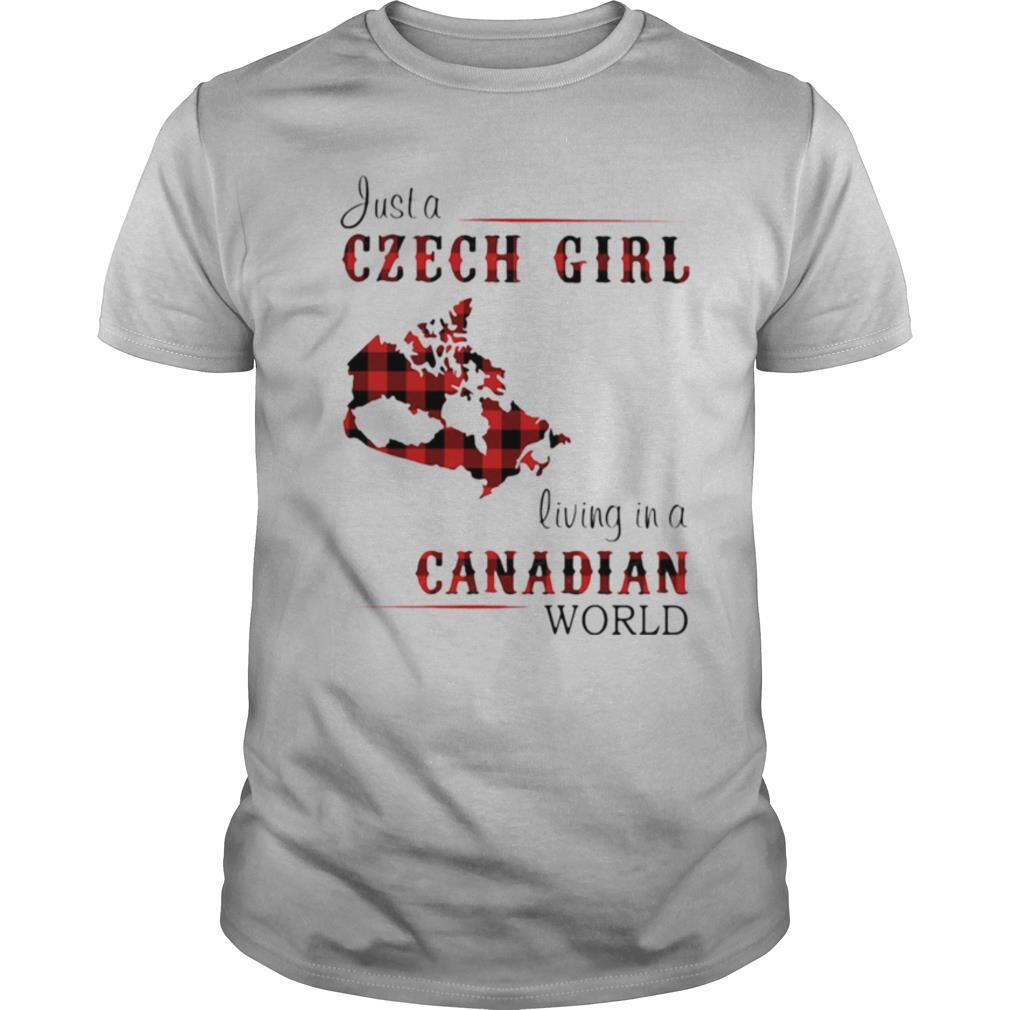 Just a Czech Girl living in a Canadian world Map shirt Classic Men's