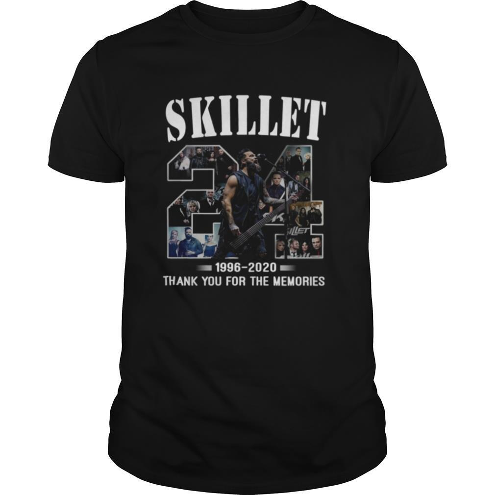 24 Skillet 1996 2020 Thank You For The Memories shirt Classic Men's