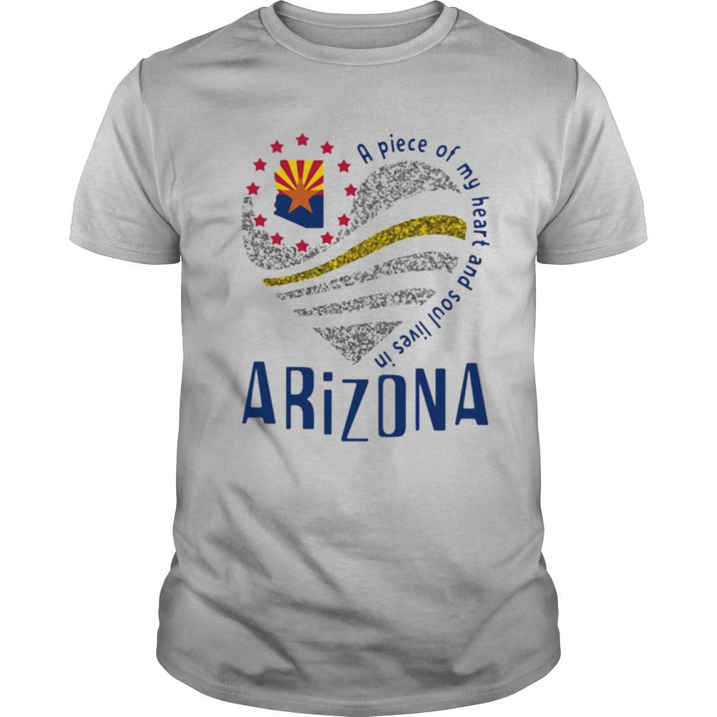 A piece of my heart and soul lives in Arizona Map shirt Classic Men's