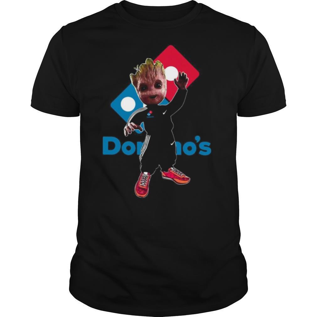Baby groot domino's logo shirt Classic Men's