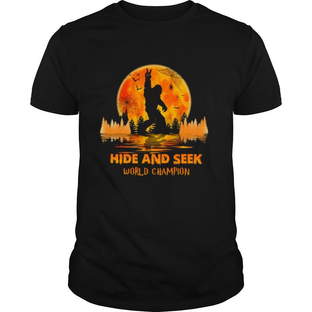 Bigfoot hide and seek world champion sunset shirt Classic Men's