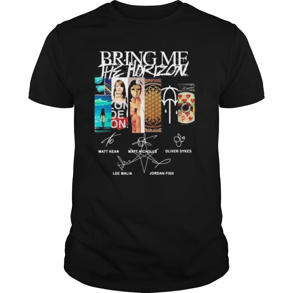 Bring me he horizon band signatures shirt Classic Men's