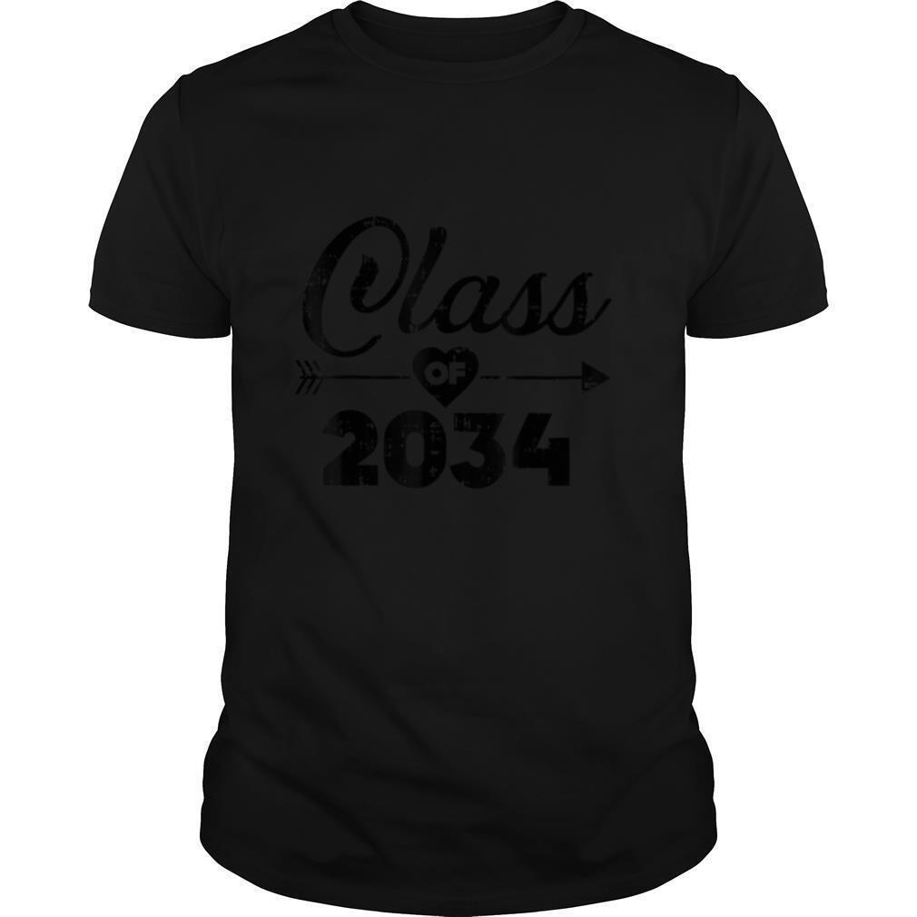 Heart Arrow Class Of 2034 Grow With Me Kindergarten Kid Gift T shirt Classic Men's