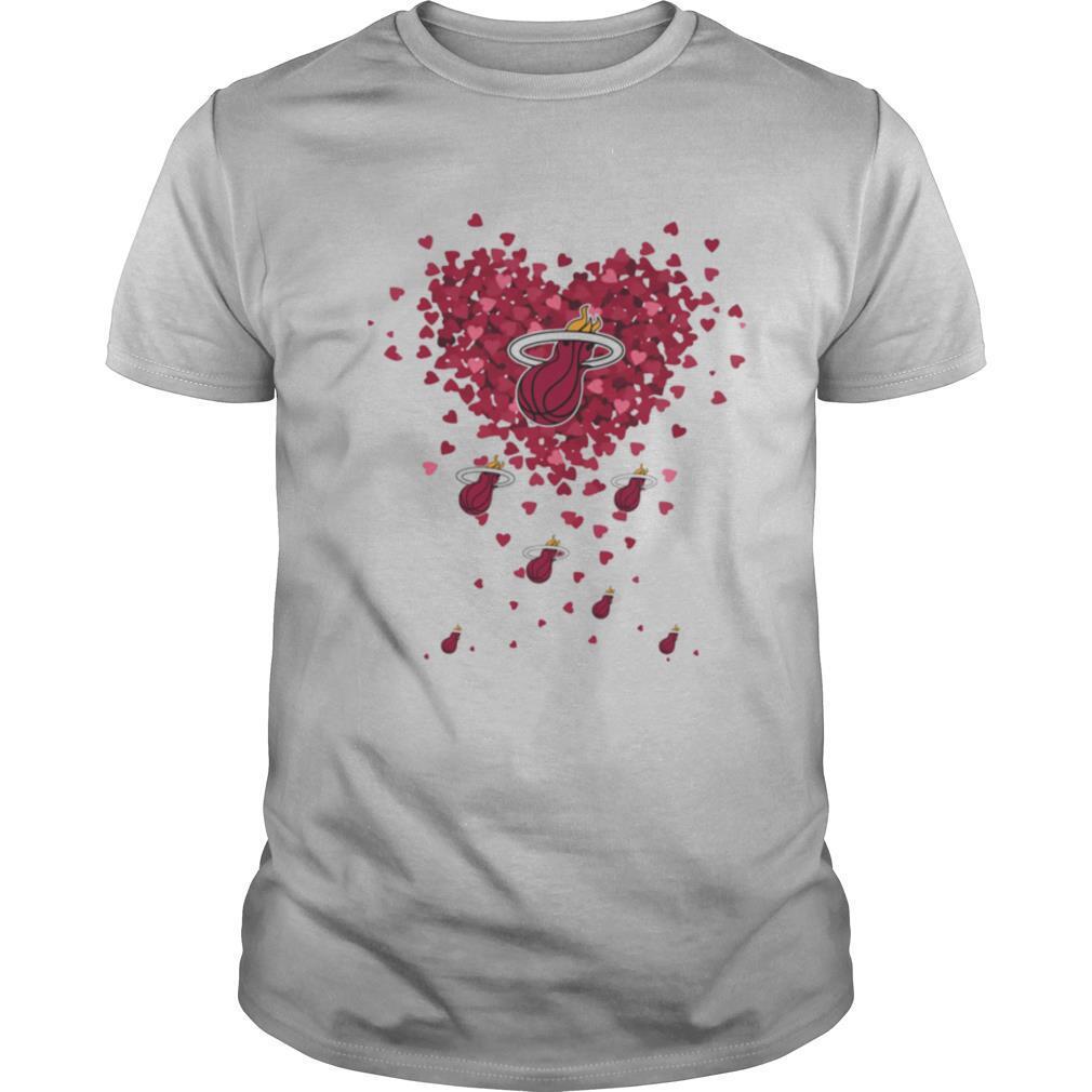 Love miami heat basketball hearts shirt Classic Men's