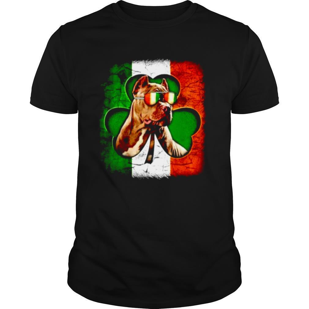 Pitbull St Patricks Day flag shirt Classic Men's