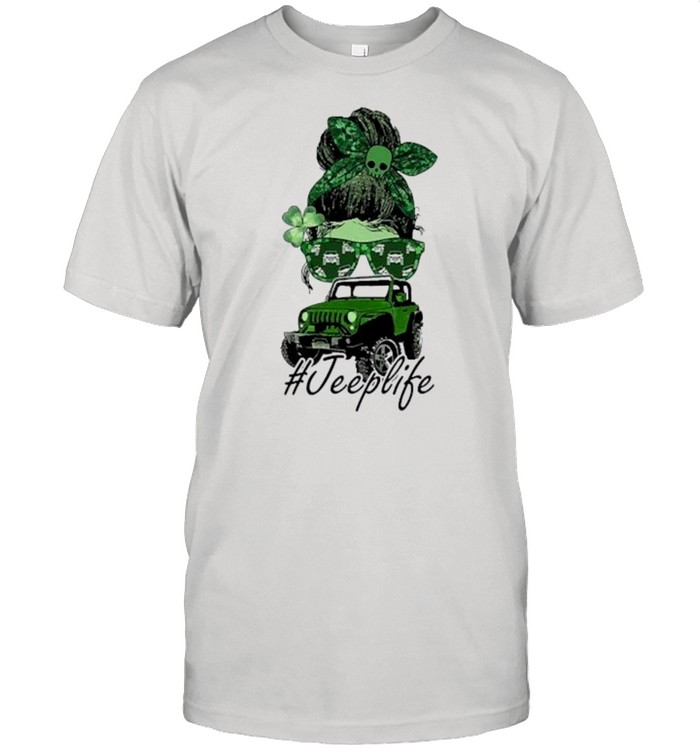 Skull and Jeeplife St patricks day shirt Classic Men's T-shirt