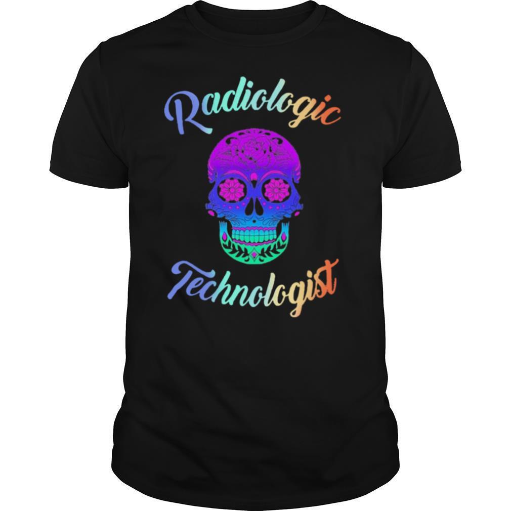 Skull Tattoo Floral Radiologic Technologist shirt Classic Men's