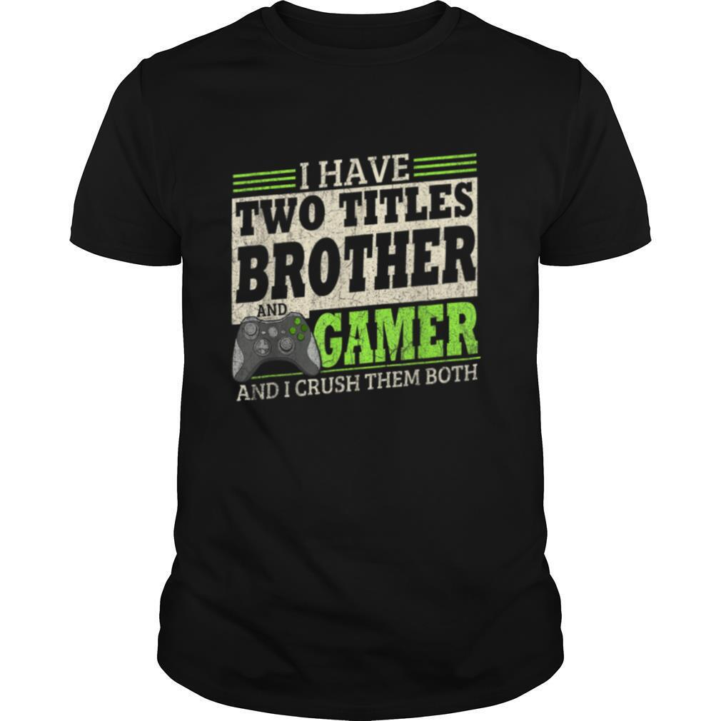 Vintage Video Games Gift For Boys Brother Son Funny Gamer T shirt Classic Men's