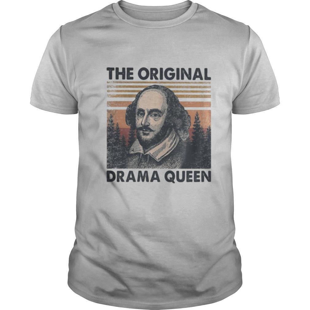 William shakespeare the original drama queen vintage retro shirt Classic Men's