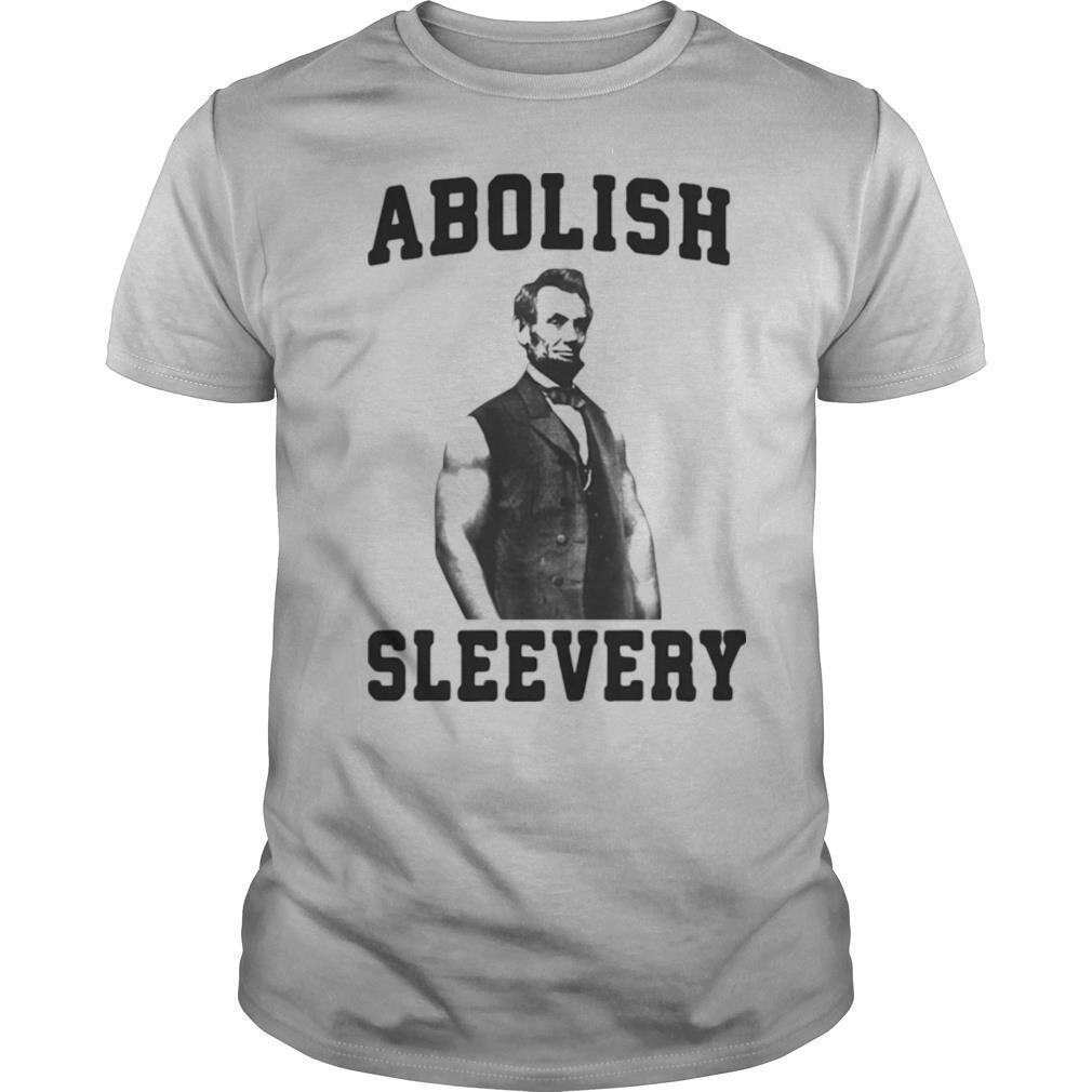 Abolish Sleevery Black Abraham Lincoln shirt Classic Men's