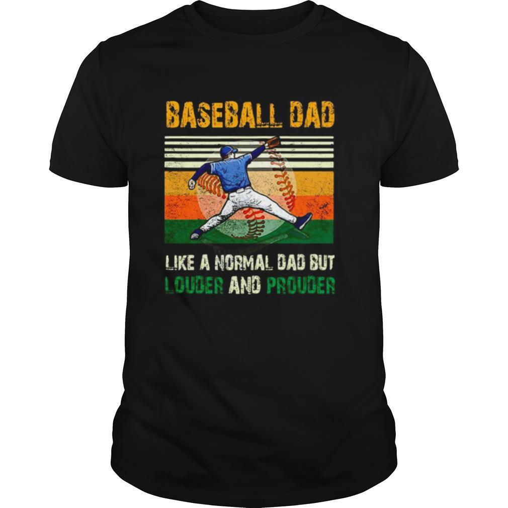 Baseball dad like a regular dad but cooler vintage retro shirt Classic Men's