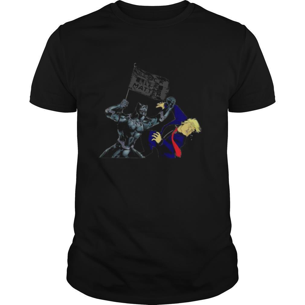 Batman kick donald trump black lives matter flag shirt Classic Men's