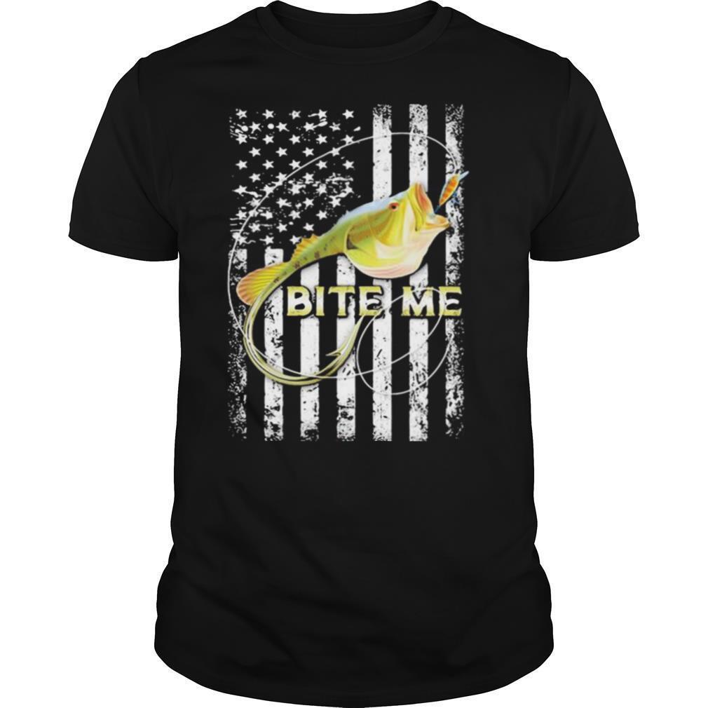 Bite me fish American shirt Classic Men's