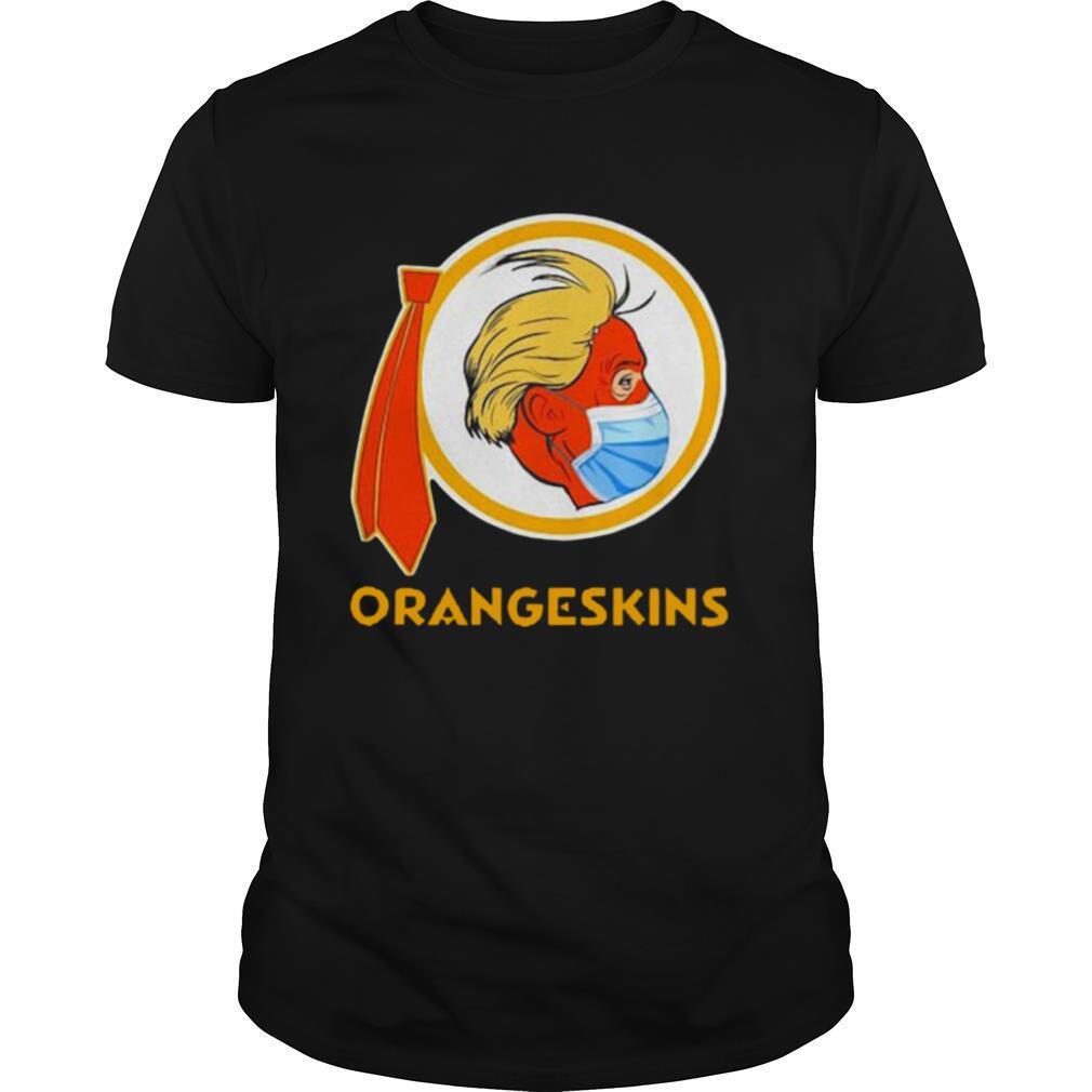 Donald Trump Face Mask Redskins Orangeskins shirt Classic Men's