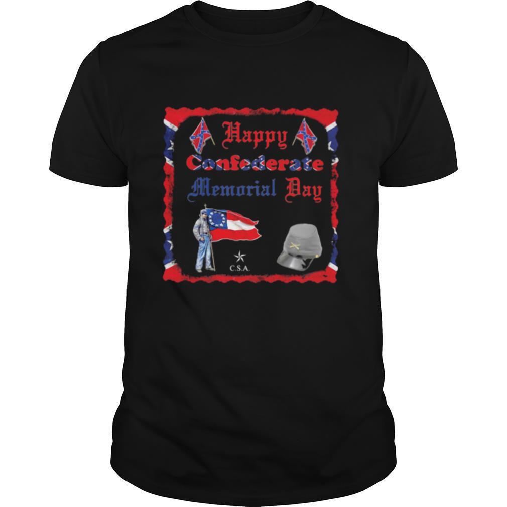 Happy Confederate Memorial Day Veteran Flag shirt Classic Men's