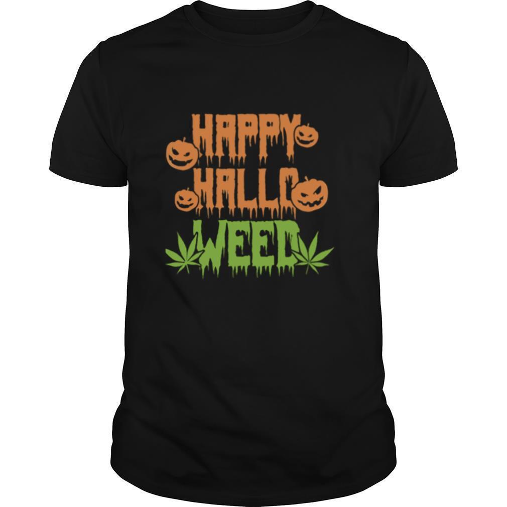 Happy Hallowen weed pumpkin shirt Classic Men's