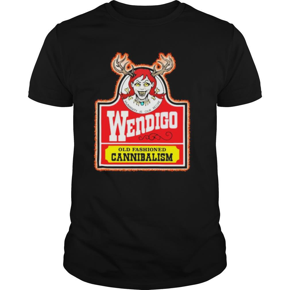 Humanity is our recipe wendigo old fashioned cannibalism shirt Classic Men's