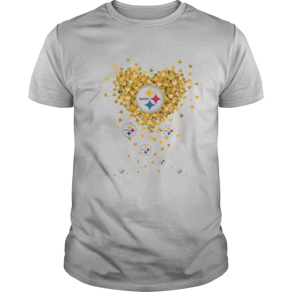 Love pittsburgh steelers football hearts shirt Classic Men's