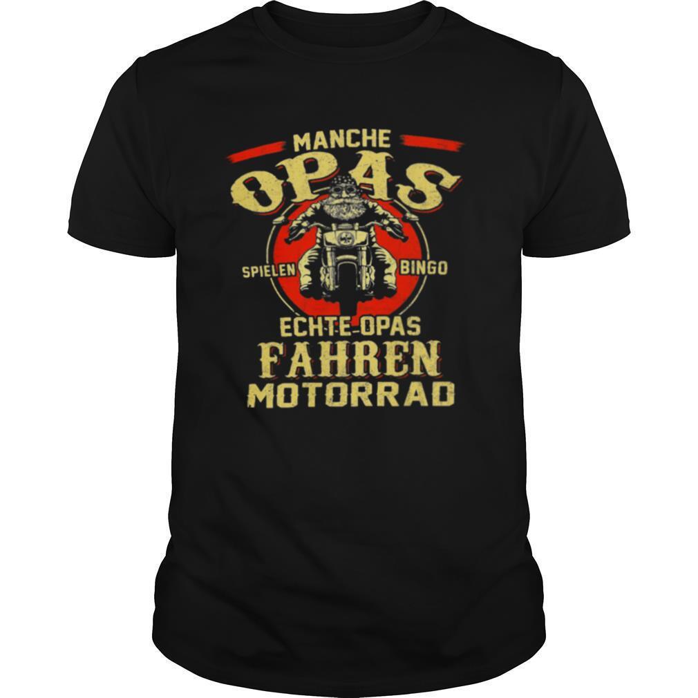 Manchie Opas Spielen Bingo Echte Opas Fahren Motorrad shirt Classic Men's