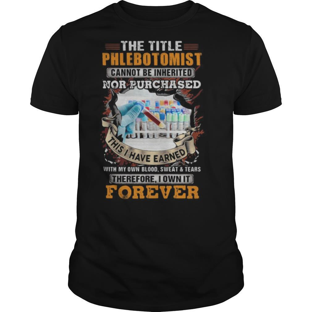The title phlebot tomist nor purchased forever shirt Classic Men's